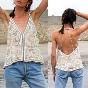*Rare* FREE PEOPLE Best of Me Embellished Tank